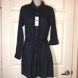 Tommy Hilfiger navy and white polka dot dress